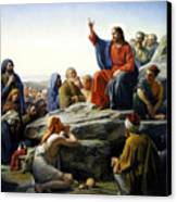 Sermon On The Mount Canvas Print