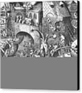 Seven Deadly Sins, 1558 Canvas Print by Granger