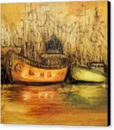 Seven Seas Canvas Print by Fatima Stamato
