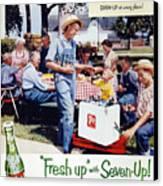 Seven-up Soda Ad, 1954 Canvas Print