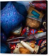 Sewing - Devoting To Sewing  Canvas Print by Mike Savad