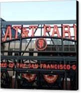 Sf Giants Stadium Canvas Print by Kathleen Fitzpatrick