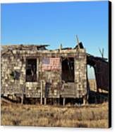 Shack With American Flag Canvas Print by John Greim