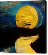Shadows In The Moon Canvas Print by Marie Bulger