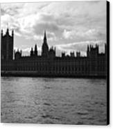 Shadows Of Parliament Canvas Print