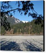 Shadows On The Coquihalla River  Canvas Print