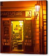 Shakespeares' Bookstore-prague Canvas Print by John Galbo