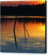 Shallow Water Sunset Canvas Print