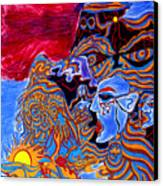 Shaman Of The Red Sky Canvas Print