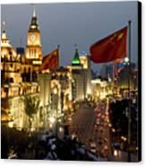 Shanghai Bund At Night Canvas Print