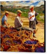 Sharing The Harvest Canvas Print