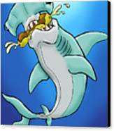 Sharks That Eat Cake Hammerhead Canvas Print by Sean Williamson