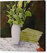 Shaw And Yellow Roses Canvas Print
