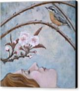 She Dreams The Spring Canvas Print by Sheri Howe