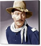 She Wore A Yellow Ribbon, John Wayne Canvas Print