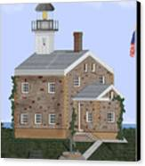Sheffield Island Lighthouse Connecticut Canvas Print