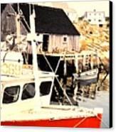 Sheltered Port Canvas Print