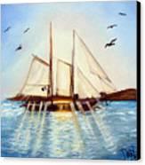 Ship At Mallory Square Canvas Print