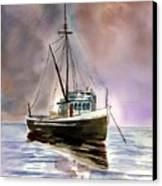Ship Stormy Weather Canvas Print