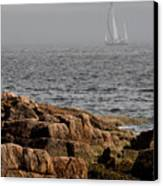 Ships Harbor In Maine Canvas Print by James Dricker