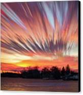 Shredded Sunset Canvas Print by Matt Molloy
