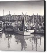 Shrimp Boats Mosquito Fleet Canvas Print by Fred Jinkins