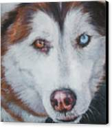 Siberian Husky Red Canvas Print