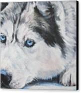 Siberian Husky Up Close Canvas Print