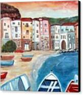 Sicilian Fishing Village Canvas Print