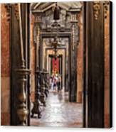 Side Aisle Of The Basilica Of The Mafra Canvas Print