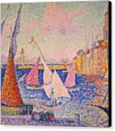 Signac: St. Tropez Harbor Canvas Print by Granger
