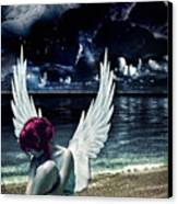 Silence Of An Angel Canvas Print by Mo T