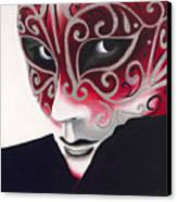 Silver Flair Mask Canvas Print