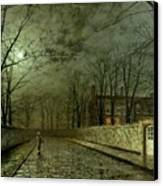 Silver Moonlight Canvas Print