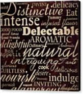 Simple Speak Dining Canvas Print by Grace Pullen