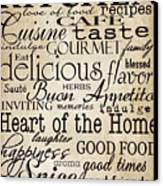 Simple Speak Kitchen Canvas Print by Grace Pullen
