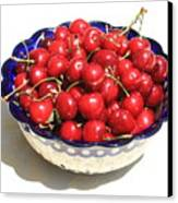 Simply A Bowl Of Cherries Canvas Print by Carol Groenen
