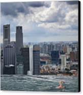 Singapore Swimmer Canvas Print by Nina Papiorek
