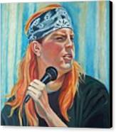 Singer For The Band Canvas Print