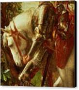 Sir Galahad Canvas Print by George Frederic Watts