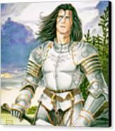 Sir Lancelot Canvas Print by Melissa A Benson