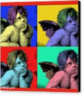 Sisteen Chapel Cherub Angels After Michelangelo After Warhol Robert R Splashy Art Pop Art Prints Canvas Print by Robert R Splashy Art
