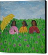 Sisters Talk Canvas Print