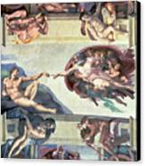 Sistine Chapel Ceiling Creation Of Adam Canvas Print