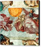 Sistine Chapel Ceiling Creation Of The Sun And Moon Canvas Print