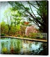 Sit And Ponder - Deep Cut Gardens Canvas Print by Angie Tirado
