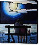 Sitting In The Moonlight. Canvas Print