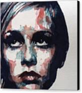 Sixties Sixties Sixties Twiggy Canvas Print by Paul Lovering