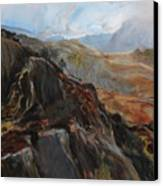 Sketch In Snowdonia Canvas Print by Harry Robertson