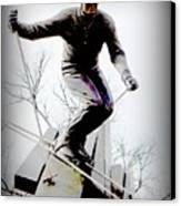 Ski On The Edge Canvas Print by Michelle Frizzell-Thompson